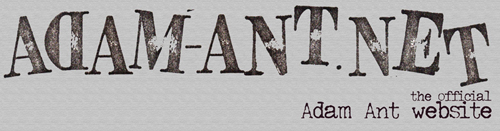 Official Adam Ant site